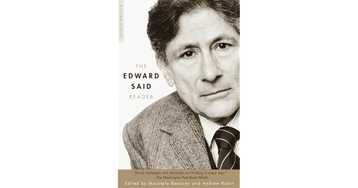 the edward said reader by edward said