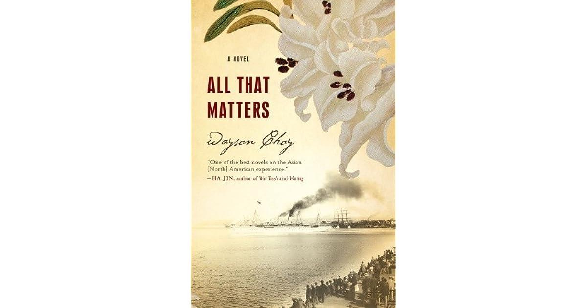 All That Matters Wayson Choy Pdf