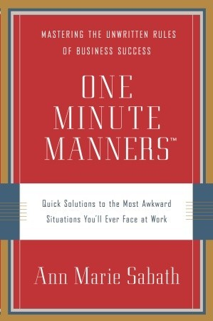 One Minute Manners by Ann Marie Sabath