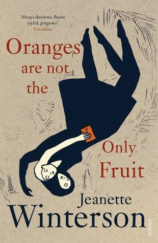 Book cover for Oranges are Not the Only Fruit with two women entwined on the cover