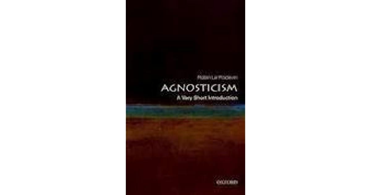 agnosticism a very short introduction le poidevin robin