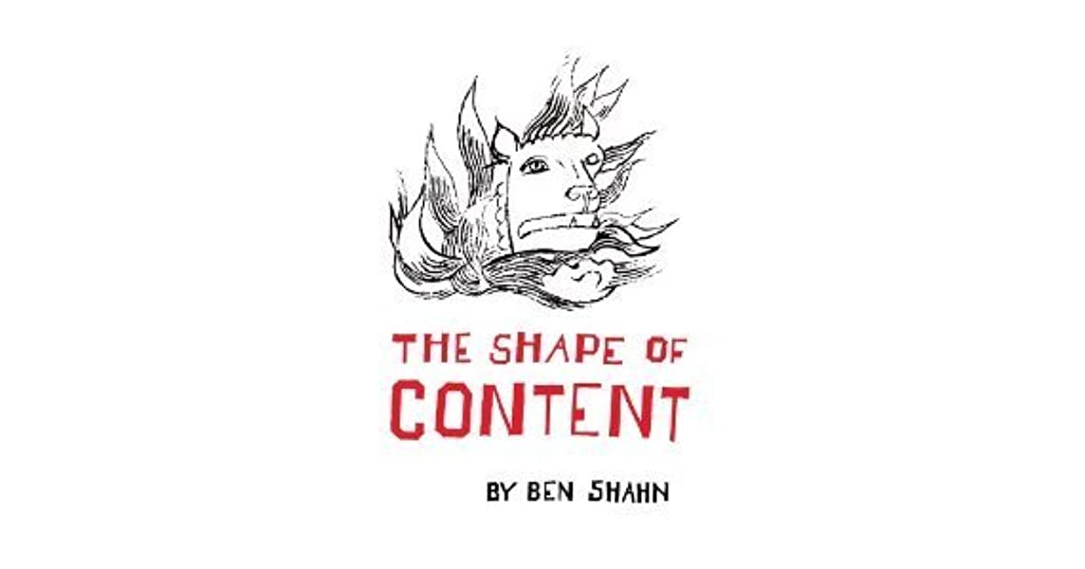 The shape of content by ben shahn fandeluxe Image collections