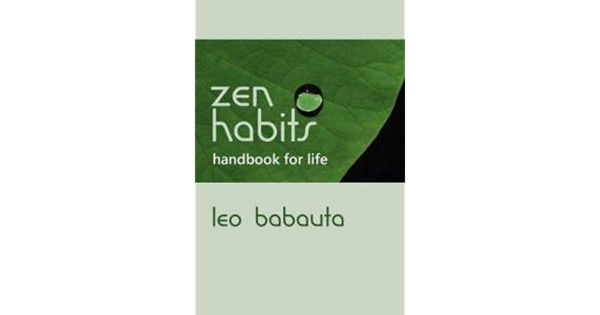 Zen habits 30 day challenge