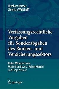 Verfassungsrechtliche Vorgaben Fur Sonderabgaben Des Banken- Und Versicherungssektors
