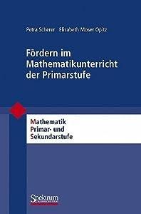 Fordern Im Mathematikunterricht Der Primarstufe
