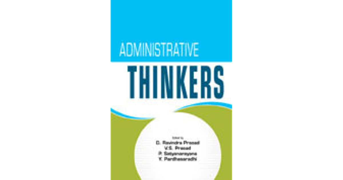 Administrative Thinkers Prasad Prasad Pdf