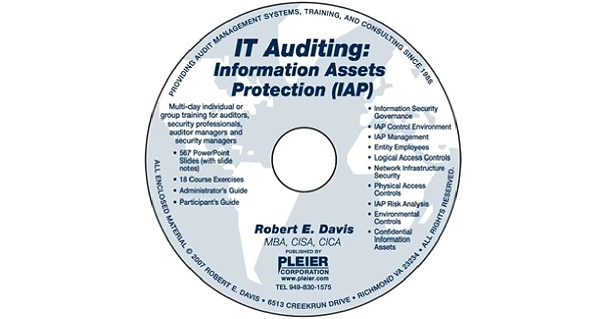 It Auditing Information Assets Protection By Robert E Davis