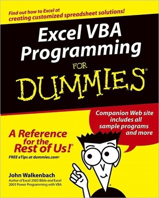 Excel Vba Programming For Dummies By John Walkenbach