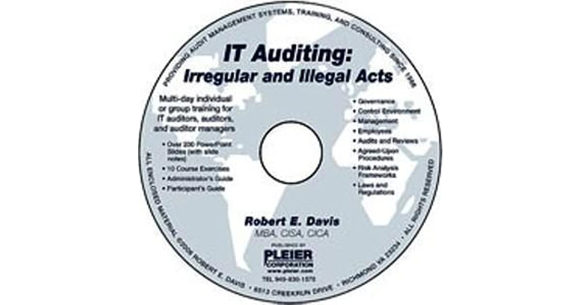It Auditing Irregular And Illegal Acts By Robert E Davis