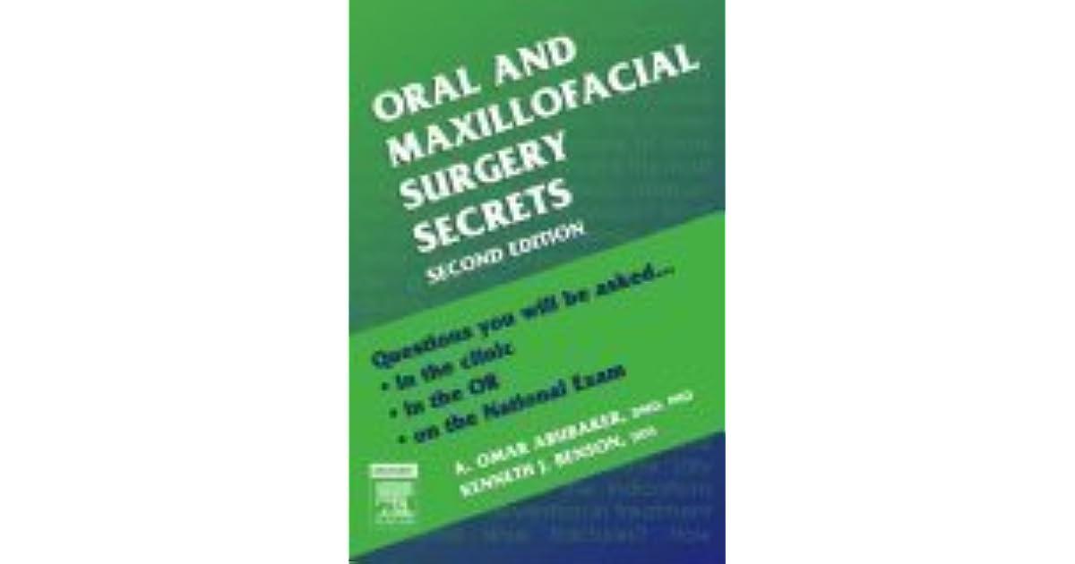 Oral Maxillofacial Surgery Secrets Pdf