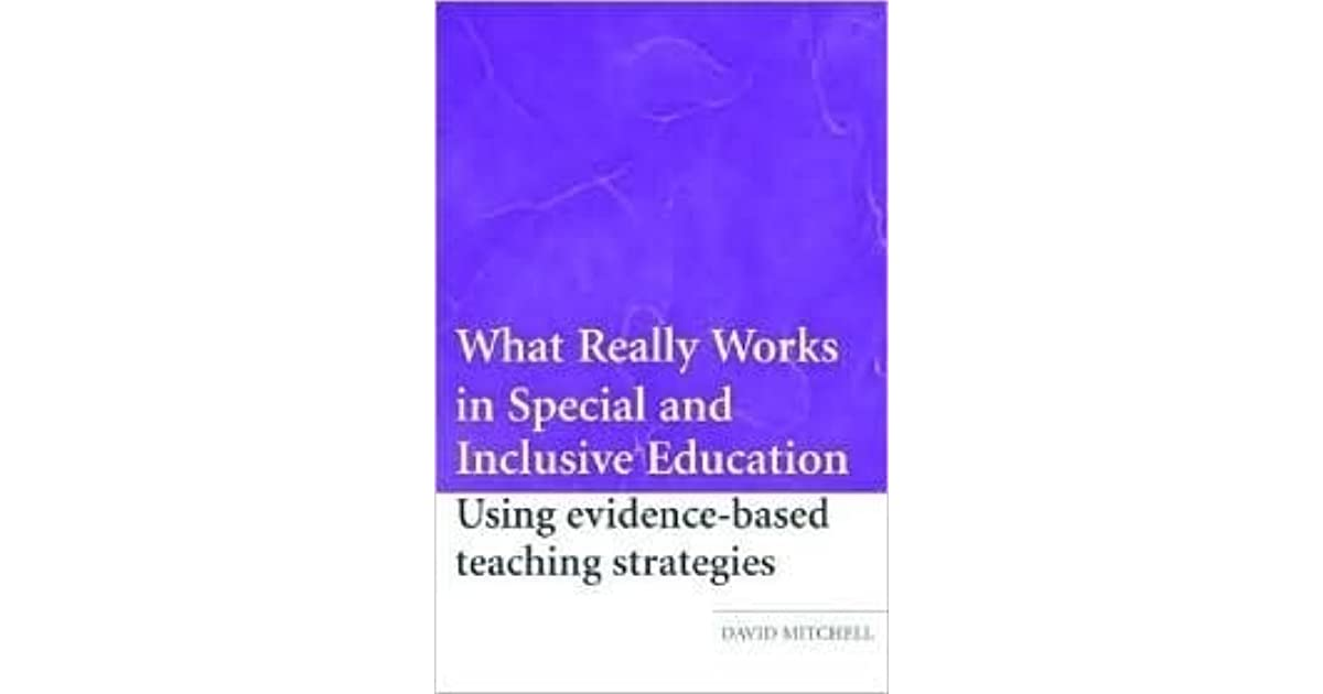 what really works in special and inclusive education mitchell david