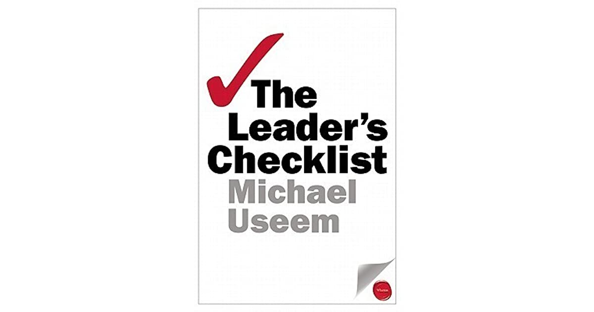 The leaders checklist 15 mission critical principles by michael useem fandeluxe Gallery