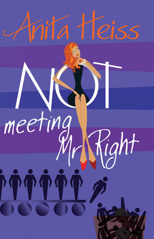 A redheaded lady contemplates the mediocre men in her life on the illustrated cover of Not Meeting Mr Right by Anita Heiss