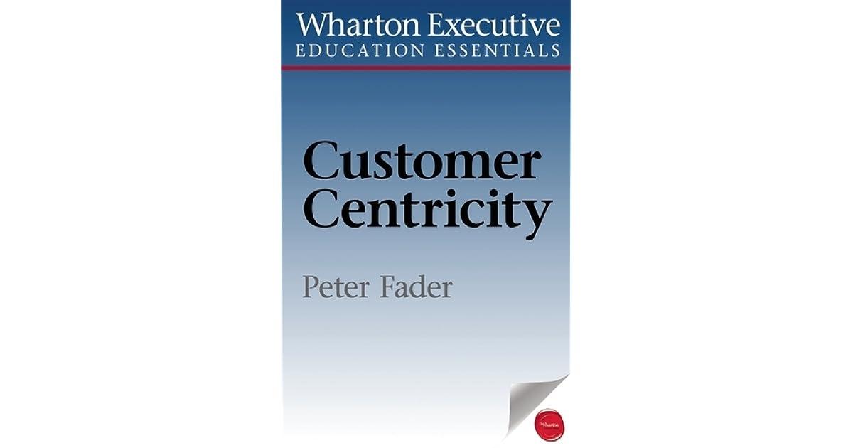 Customer Centricity Peter Fader Pdf