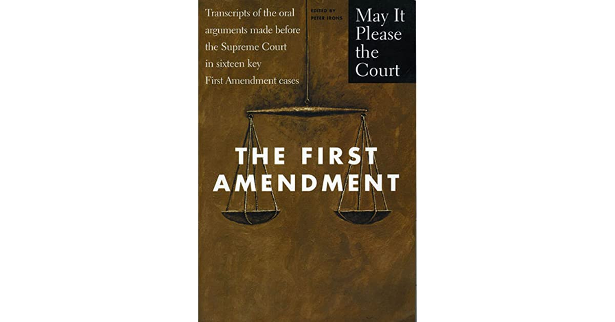 youth and the first amendment The first amendment earned its sacred status only in the 1960s, and then only among liberals and the left, who cheered when the courts ruled that government could not suppress the speech of.