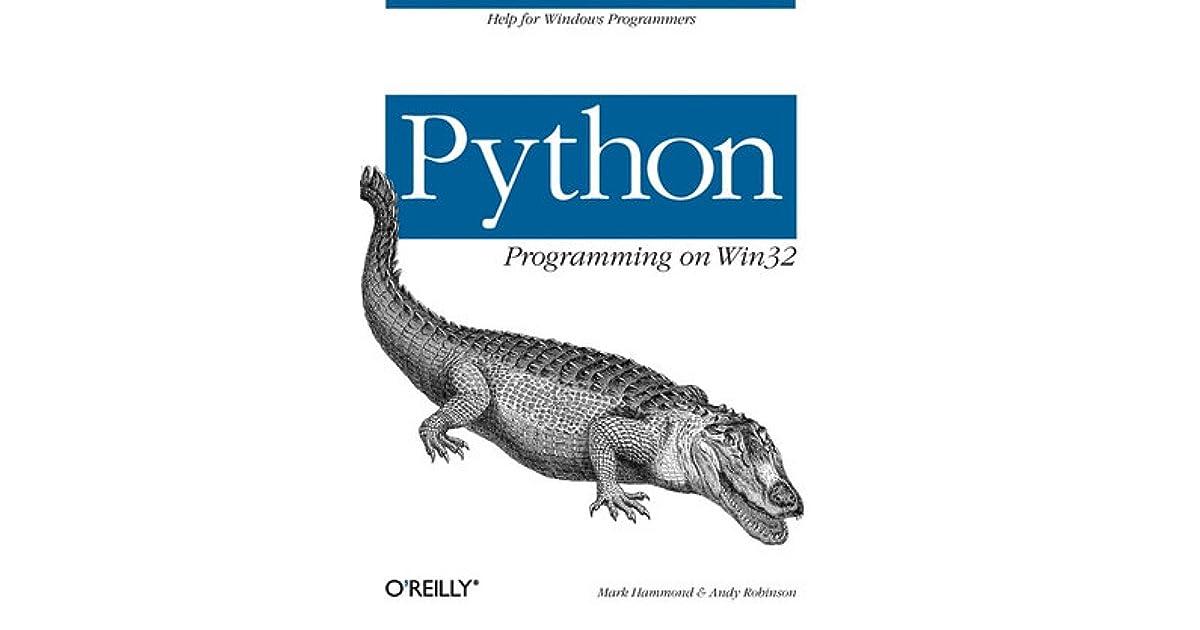 PYTHON PROGRAMMING WIN32 PDF