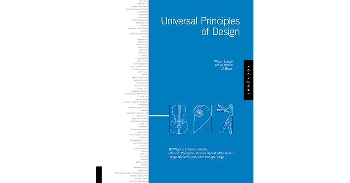Principles Of Design List : Universal principles of design ways to enhance usability