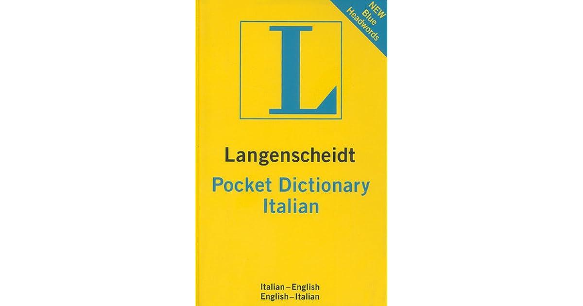 Langenscheidt Pocket Dictionary Italian by Langenscheidt