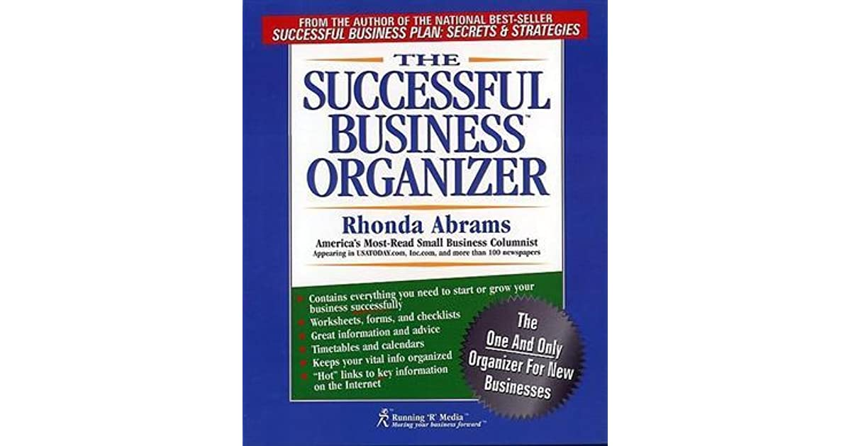 The Successful Business Organizer By Rhonda M Abrams
