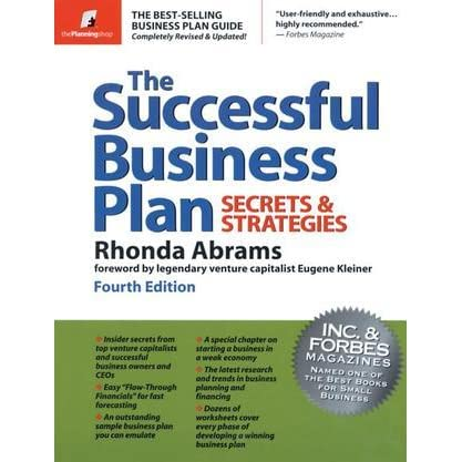 best book for business plans