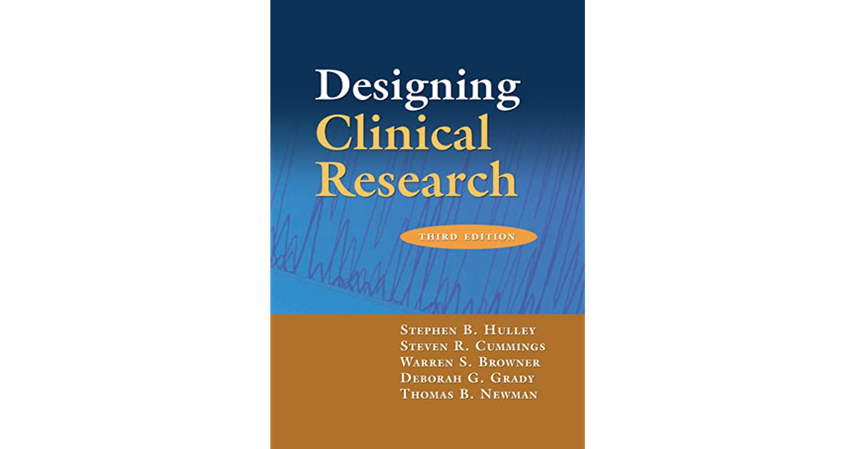 Designing Clinical Research Book