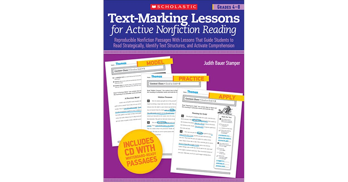 Text Marking Lessons For Active Nonfiction Reading Grades 4