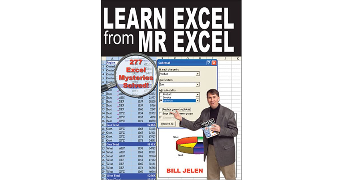 Learn Excel 2007 Through Excel 2010 From Mrexcel Ebook