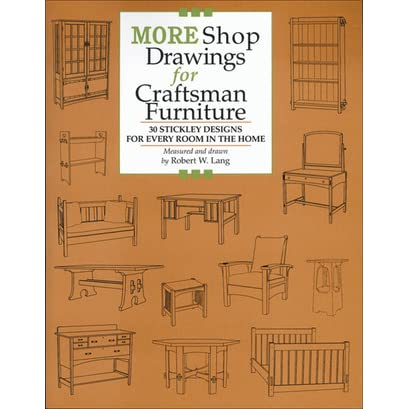 more shop drawings for craftsman furniture 30 stickley designs for every room in the home by robert w lang