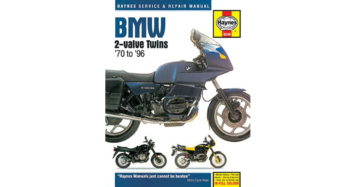bmw twin motorcycles owners workshop manual / 1970-1996haynes