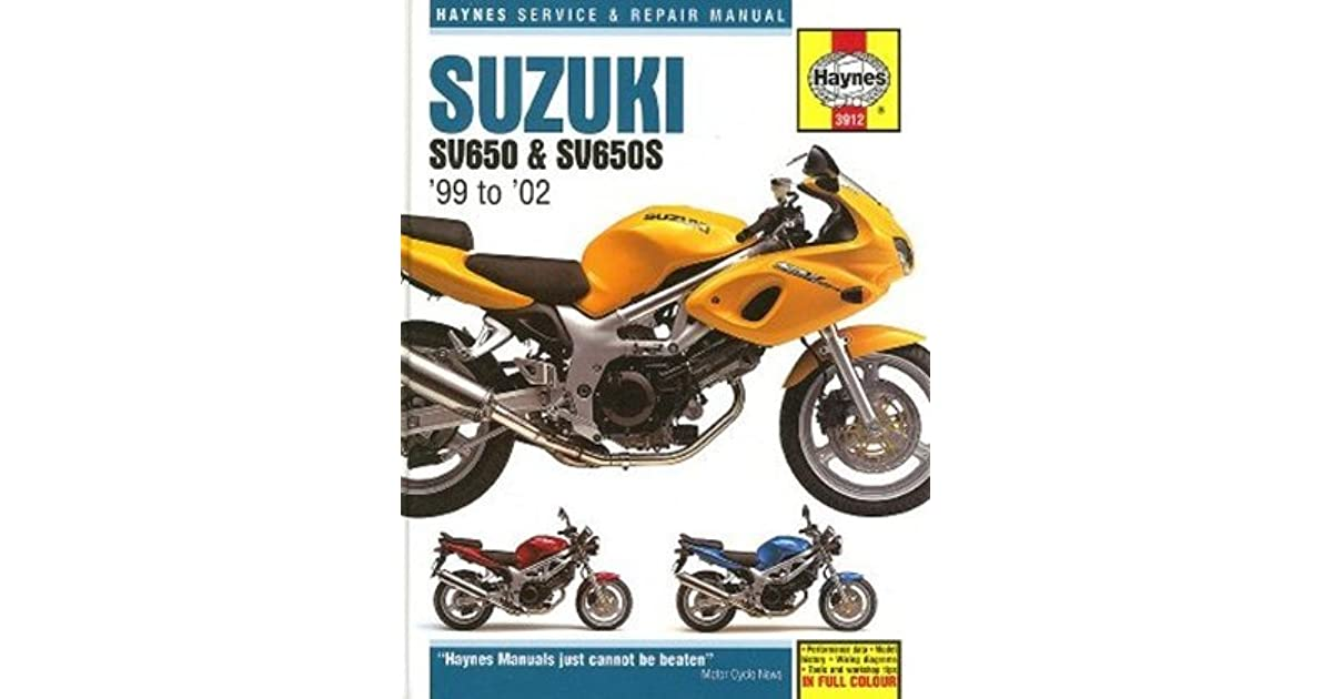 Suzuki SV 650 S 2005 Haynes Service Repair Manual 3912