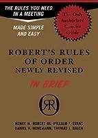 Robert's Rules of Order in Brief