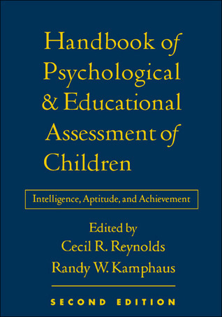 handbook of educational and psychological assessment of children
