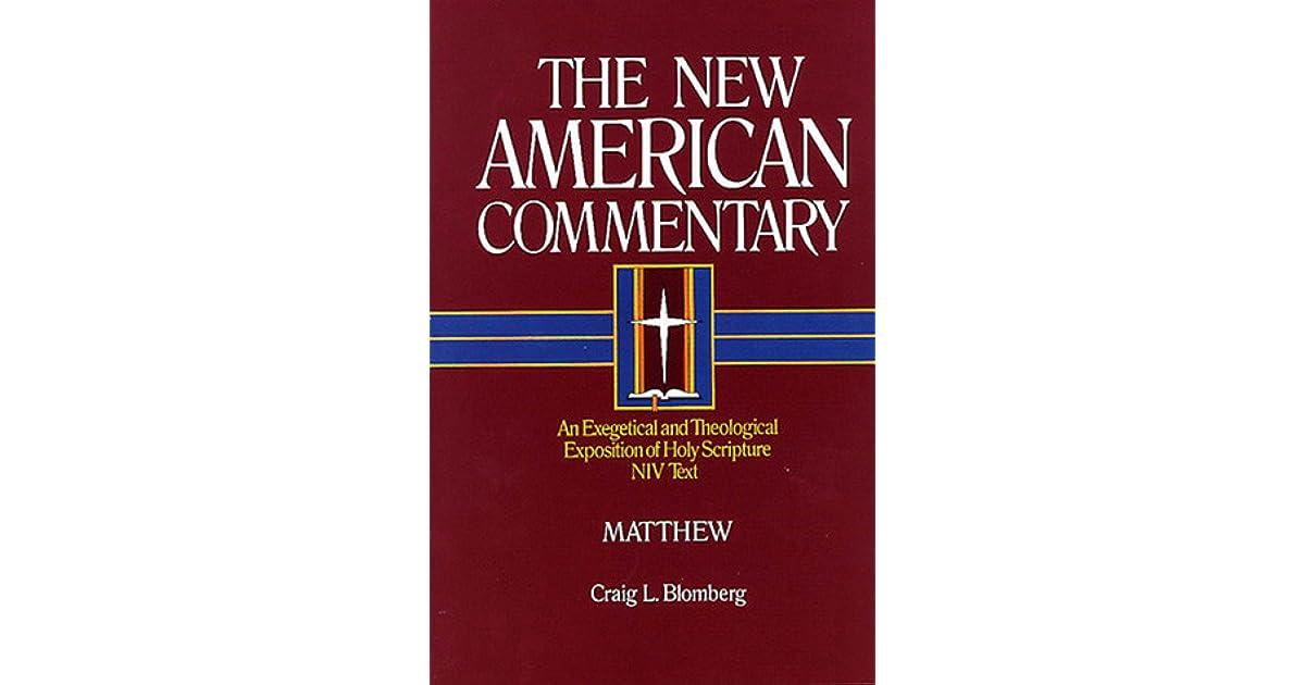 Matthew By Craig L Blomberg border=