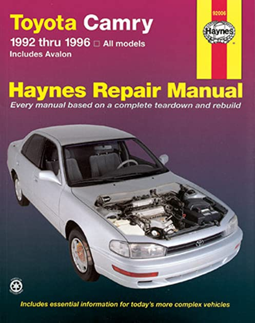 haynes toyota camry automotive repair manual all toyota camry and rh goodreads com Avalon Album 1996 1996 Toyota Avalon Car Parts