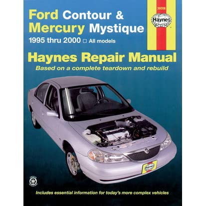 ford contour mercury mystique 1995 thru 2000 haynes repair manual rh goodreads com 2000 mercury cougar v6 repair manual 2000 mercury cougar service manual