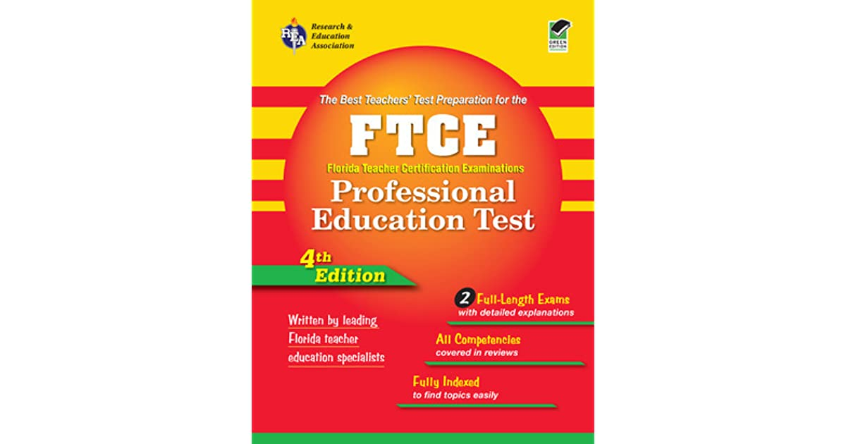 Ftce Professional Education Rea Florida Teacher Certification