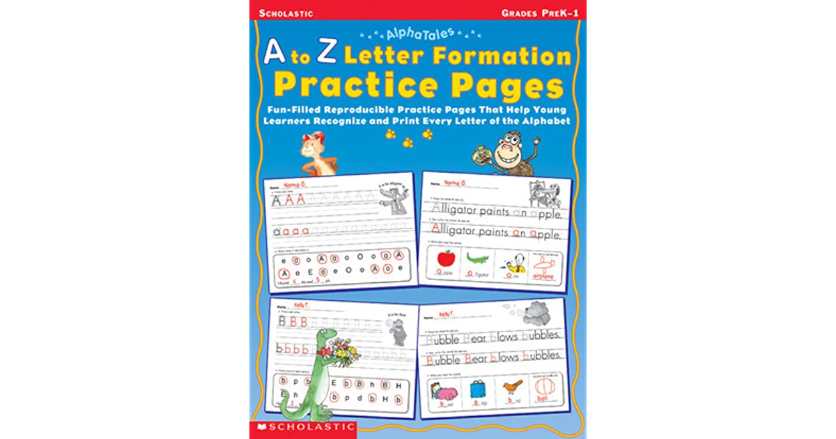 Alphatales A To Z Letter Formation Practice Pages Fun Filled