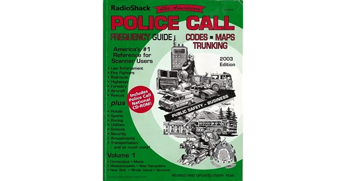 Police Call Frequency Guide by Radio Shack