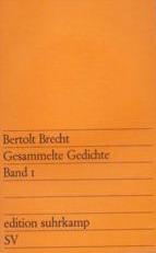 Die Gedichte Von Bertolt Brecht In Einem Band By Bertolt Brecht