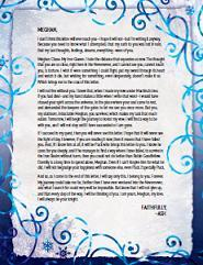 Ash's Letter to Meghan (The Iron Fey, #3.6)