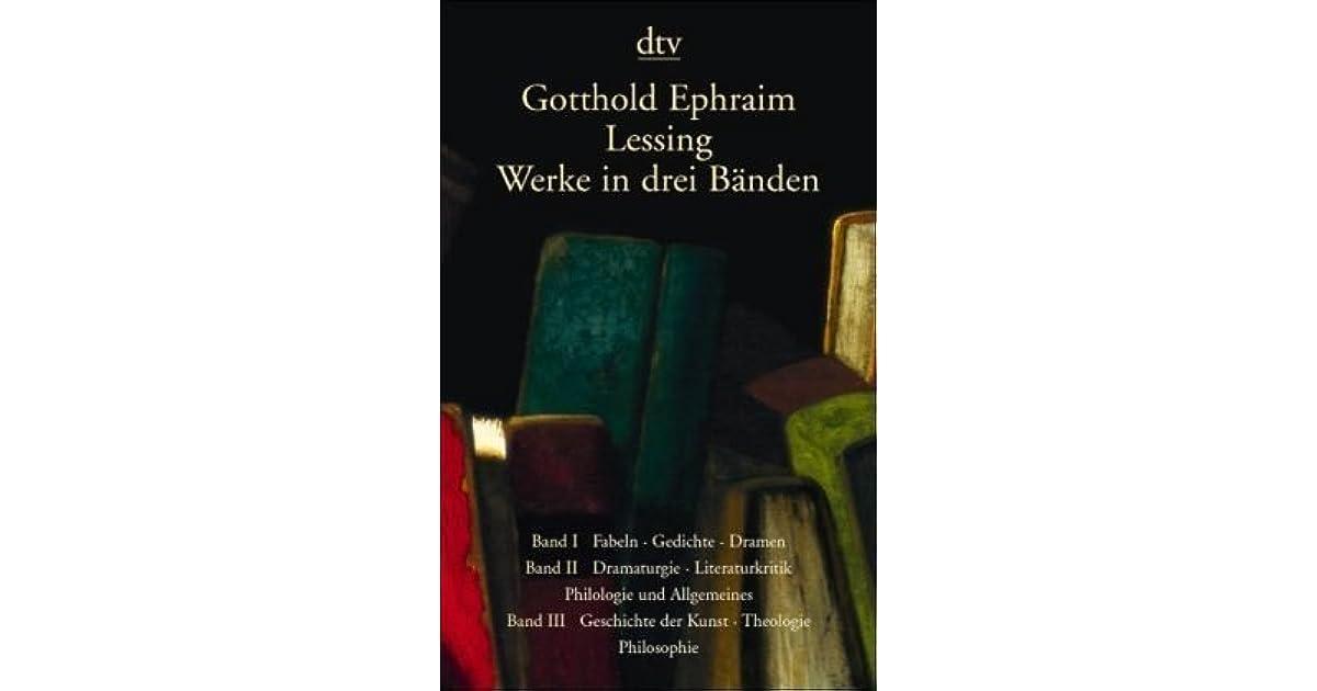 Werke In Drei Bänden By Gotthold Ephraim Lessing