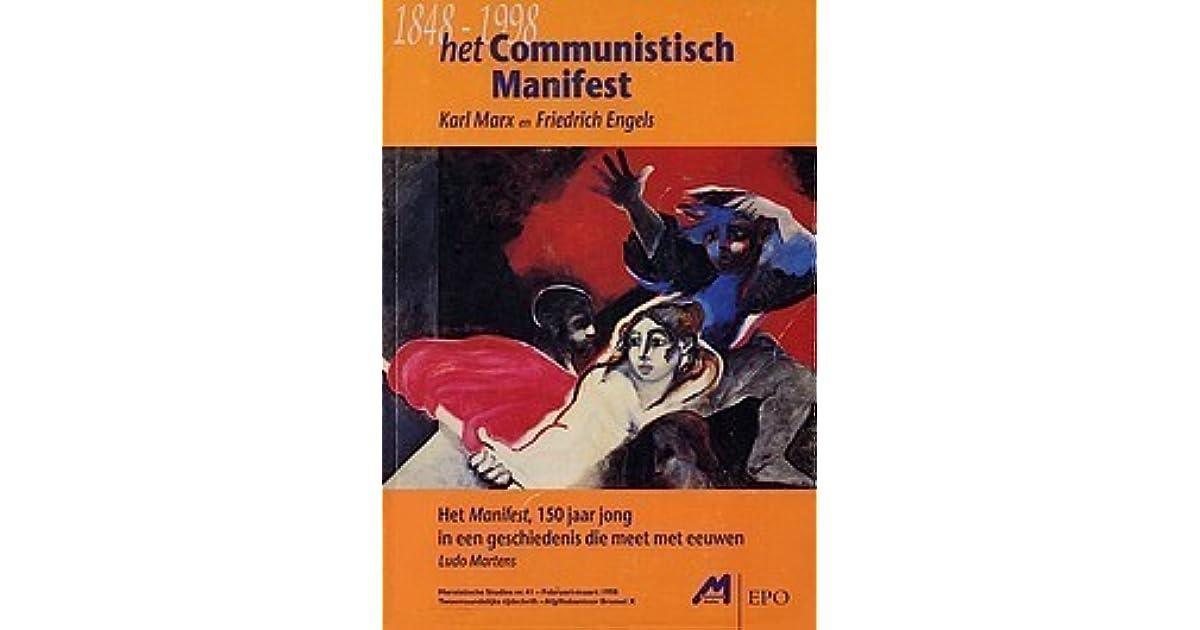 Het Communistisch Manifest Karl Marx En Friedrich Engels