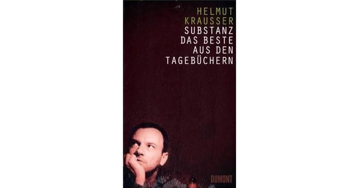 Substanz: Das Beste aus den Tagebüchern (German Edition)