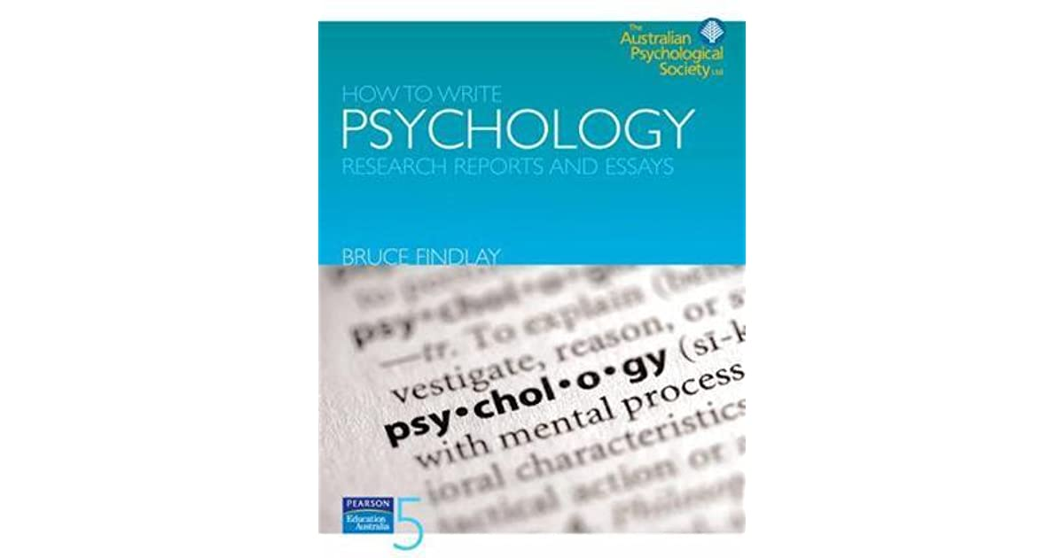 How to write psychology research reports and essays by bruce findlay fandeluxe Choice Image