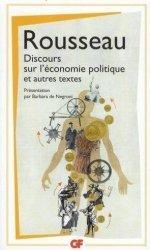 Discours sur l'économie politique ; Projet de constitution pour la Corse ; Considérations sur le gouvernement de Pologne