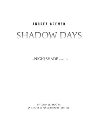 Shadow Days by Andrea Cremer