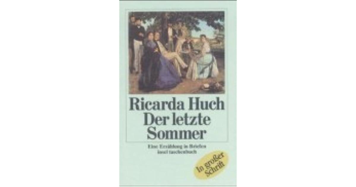 Der letzte Sommer by Ricarda Huch