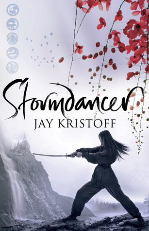 "Book cover of ""Stormdancer"" by Jay Kristoff"