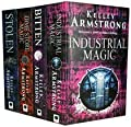 Kelley Armstrong, Women of the Otherworld Series, 4 Book Collection: Bitten, Stolen, Dime Store Magic, Industrial Magic