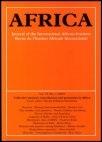 Grandparents and Grandchildren: Africa Volume 74 Issue 1